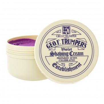 Geo F Trumper Shaving Soap Wooden Bowl Violet
