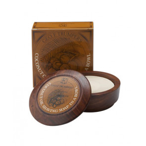 Geo F Trumper Shaving Soap Wooden Bowl Coconut