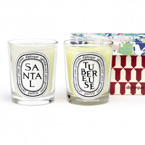 Diptyque Duo Candle Set Sandalwood & Tuberose