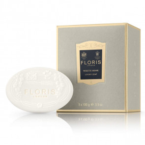 Floris White Rose Luxury Soaps (3 pieces)